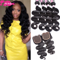 7a Mink Brazilian Virgin Hair With Closure Ms Lula Hair With Closure And Bundles Brazilian Body Wave Hair 3 Bundles With Closure