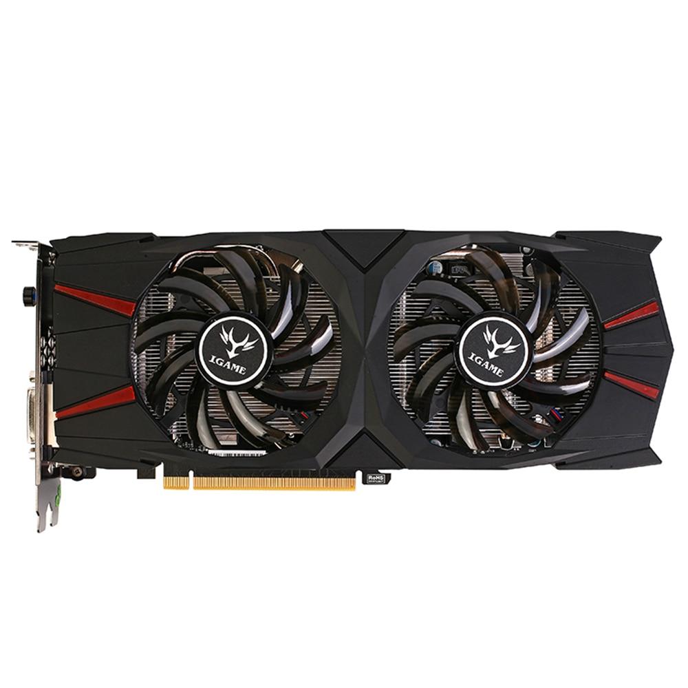 Красочные iGame GTX 1060 вулкан u 6 г видеокарта GeForce GTX 1060 gtx1060 Графика 92bit GDDR5 pci-e x16 3.0 2 Вентиляторы DVI + HDMI + DP