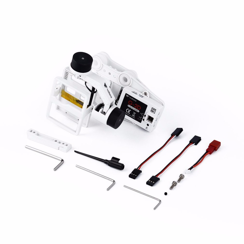 White Plastic Version G-2D Brushless Gimbal Walkera for iLook/GoPro Hero 3 walkera g 2d camera gimbal for ilook ilook gopro 3 plastic version