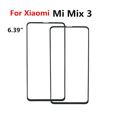 For XiaoMi Mi Mix Mix 2 3 Mix 2S Touch Screen Front Outer Screen touch Panel Glass Parts Repair Replacement for xiaomi mix 2 2s Multan