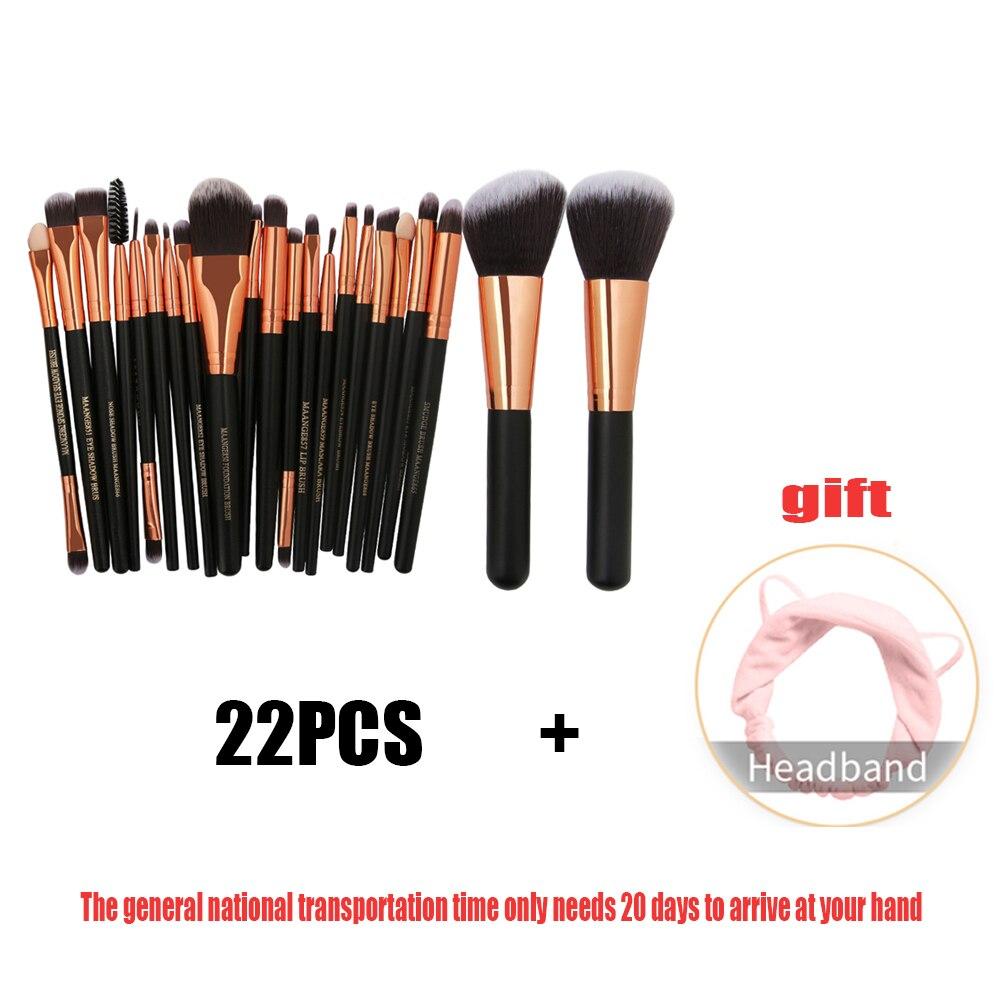 22 Pcs Schönheit Make-up Pinsel Set Kosmetik Foundation Powder Blush Lidschatten Lip Mischung Machen Up Pinsel Tool Kit Maquiagem StäRkung Von Sehnen Und Knochen Make-up-utensilien & Zubehör