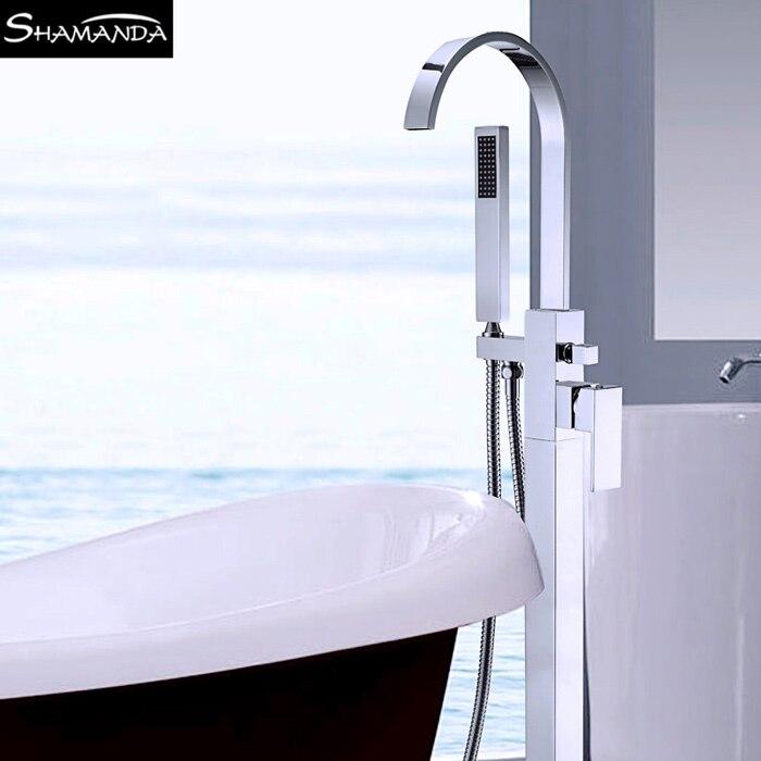 Plumbing Fixtures Floor Mounted Bathtub Faucet Free Standing