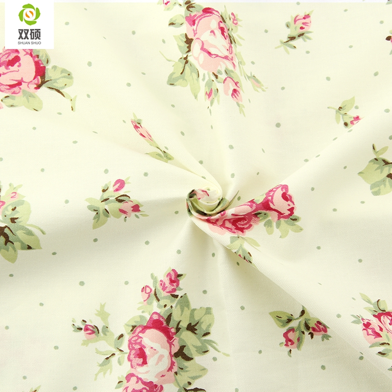 Rose series cotton fabric kids curtains tissu sewing telas for Cheap childrens curtain fabric