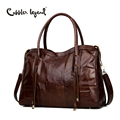 Cobbler Legend Genuine Leather Bag For Men Or Women Vintage Handbag Real Cowhide Crossbody Bags Unisex Travel Laptop Bag Totes