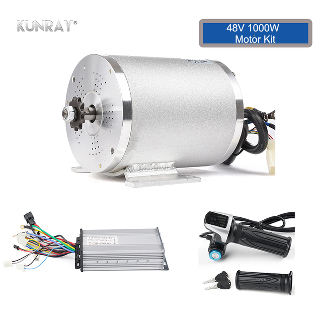 US $116 58 29% OFF|KUNRAY Electric 48V 1000W Scooter Bicycle Motor Complete  Kit, Brushless Motor DIY Conversion Kit, 30A Controller, LCD Throttle -in