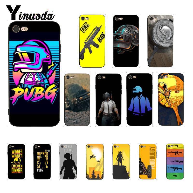 Yinuoda PUBG Customer Custom Black Soft Shell Phone Cover