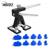 цена на WHDZ PDR Tools Black Dent Lifter for Car Dent Removal Paintless Dent Repair auto car dent removal set with 10pcs puller tabs