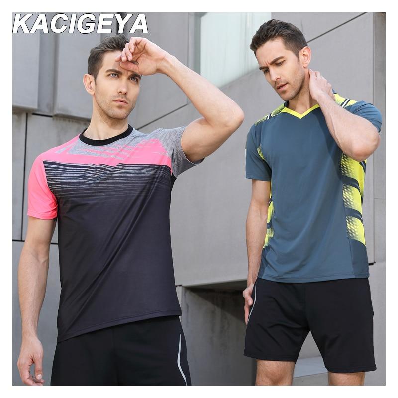 New 2019 Badminton Tennis Shirts Men Custom Tennis Table Jersey Short-Sleeve Quick Dry Running T Shirt