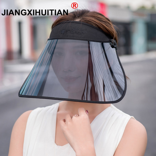 new high quality Retractable Visor Female Summer Sun Empty Top Hat Solid Unisex Sombrero Cap UV Sun Hat Woman Beach Hat Headwear