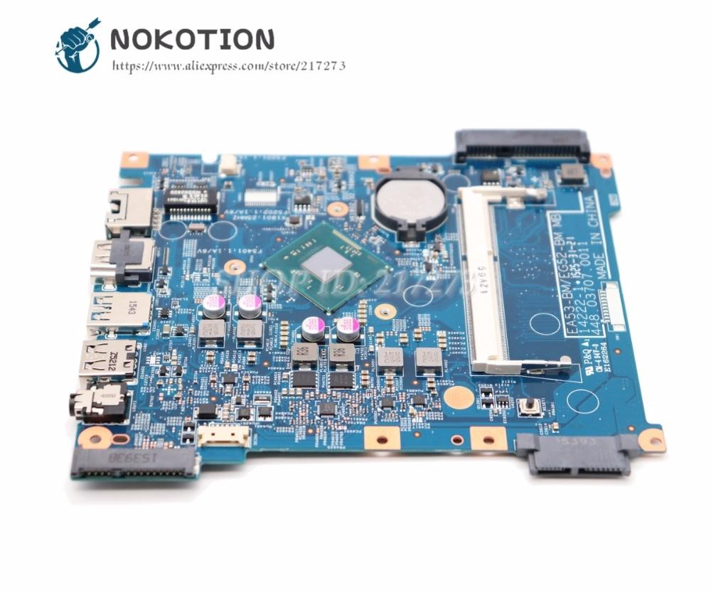 цена на NOKOTION For Acer aspire ES1-512 Laptop Motherboard EA53-BM EG52-BM MB 14222-1 448.03708.0011 MAIN BOARD DDR3
