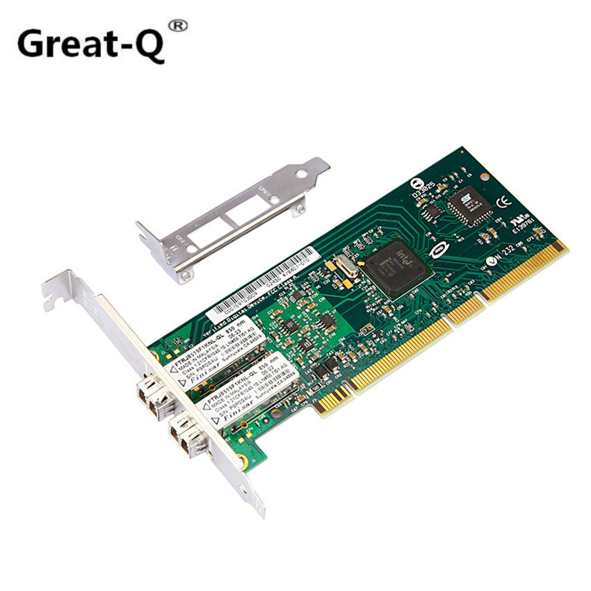 Intel 82546EB PCI-X/PCI Fiber NIC Card With PXE Bootrom 2x LC Port Fiber network lan card diewu 82545mf pci x gigabit fiber network adapter card nic w intel82545 gm em pwla8490mf single port multi mode fiber module