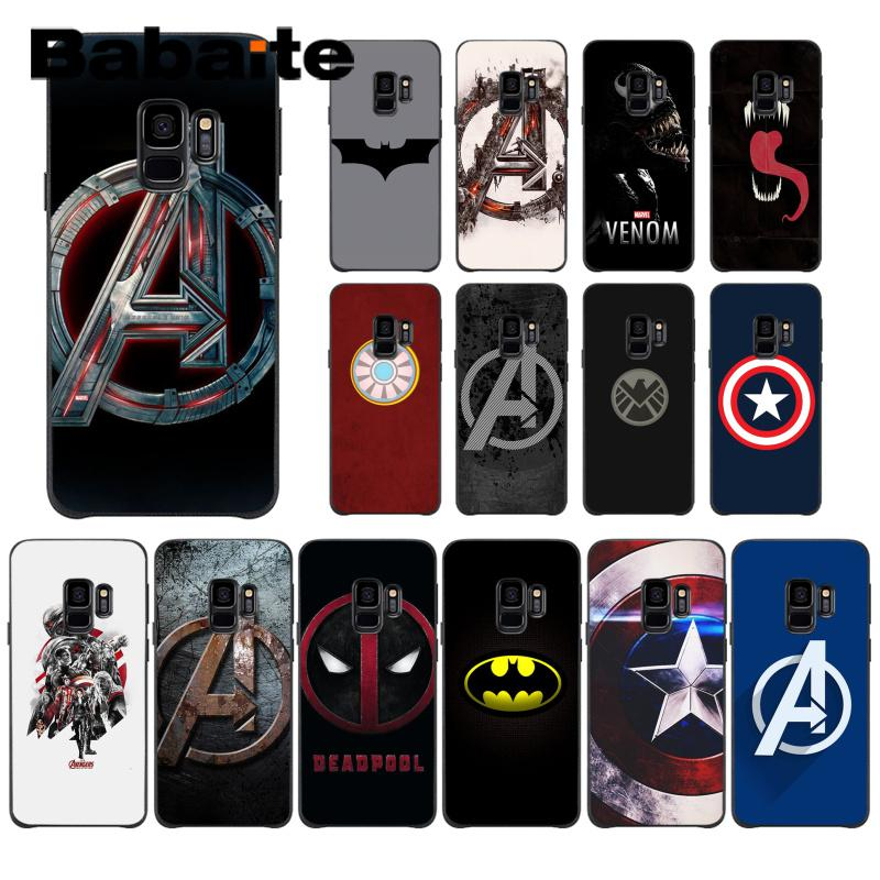 Babaite Luxury Marvel Comics logo Colorful Cute Phone Case For Samsung Galaxy S4 S5 S6 S7 S8 S9 edge plus Mobile