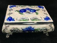 Sammlung Handarbeit Cloisonné Carving Blume Royal Günstigen Glück Jewel Boxen Schmuck Box-in Statuen & Skulpturen aus Heim und Garten bei