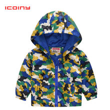 Boys Camouflage Coats 2019 Spring Girls Butterfly Hooded Jacket Toddler Kids Baby Zipper Tops tees 2 4 5 6 7 8 Years(China)