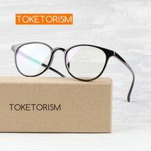 Toketorism 2019 vintage women eyeglasses frames lightweight mens glasses round 3142