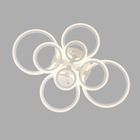 Modern Acrylic Led Ring Chandelier Ceiling Living Room Light Fixtures Dining Room Lamps Decoration Hogar Home Lighting 220V