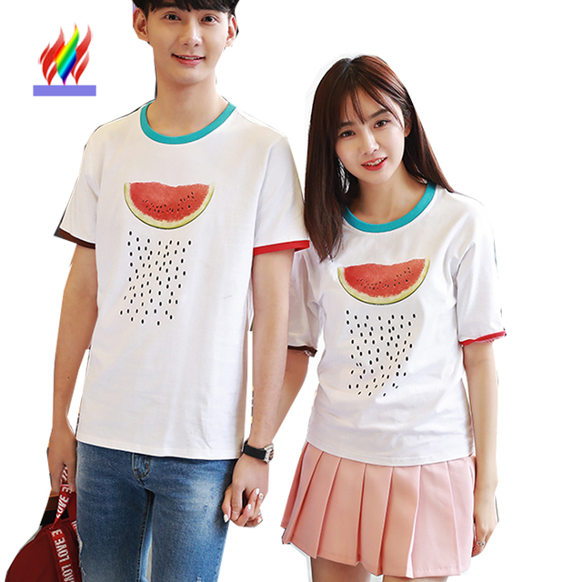 Couple Clothes For Lovers Men Women Printed T Shirts Holiday Valentineu0027s  Day Casual Tops Cute