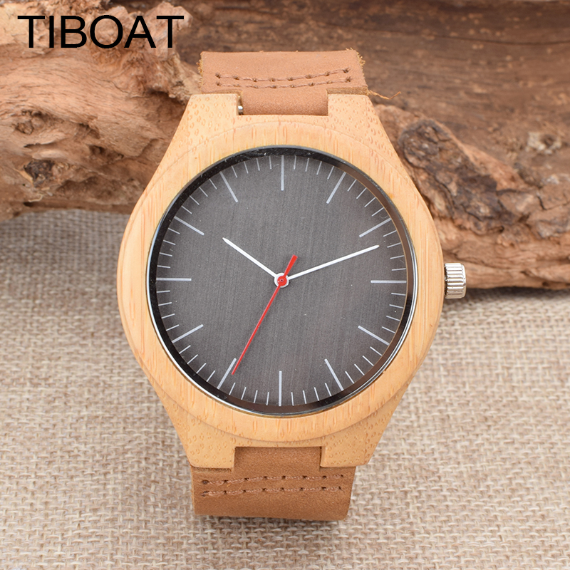 Reloj Hombre 2017 TIBOAT  Fashion  Sport Mens Watches Wood Top Brand Luxury Military Quartz Watch Clock Relogio Masculino