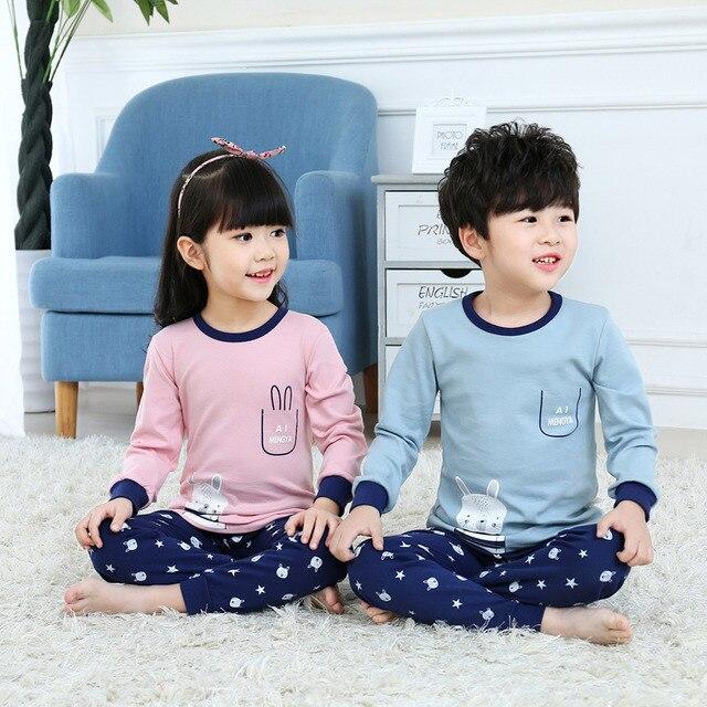 773ed4b9a 2018 bebé de manga larga pijamas de conejo de navidad niños conjunto de  dibujos animados pijamas