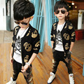 Children Clothing Set For Boys Sports Suits Long Sleeve Skull print Cotton Kids Tracksuits Spring Autumn Sportswear 2-10 Years