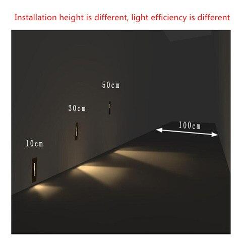ac85 265v passo lampada caminho parede canto lampadas