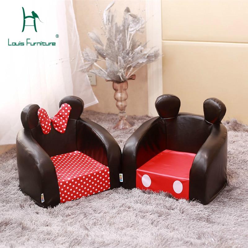 Louis Fashion Children Sofas Lving Room Modern Simple Minnie Mini Cute Washable