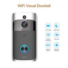 WiFi умный беспроводной дверной звонок камера кольцо визуальный домофон сигнализация с функцией видеонаблюдения дверной телефон Удаленный домашний мониторинг ночное видение