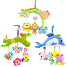 Baby Stroller Hanging Toys Soft Cartoon Animal Toys