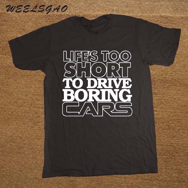 9e434c8fdce8 R$ 34.36 45% de desconto|A vida é Curta Demais para Dirigir Carros Chato  Engraçado Mens Camisa Carro T Presente para O Pai-in Camisetas from Roupas  ...