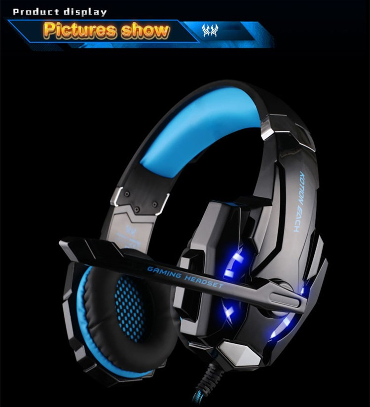 KOTION EACH G9000 3.5mm Game Gaming Headphone Headset Earphone With Microphone LED Light For Laptop Tablet Mobile Phones Xbox ONEPS4 (10)
