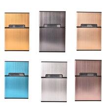 1pc Portable Mens Light Aluminum Pocket Cigar Cigarette Case Box Storage Tobacco Holder Container