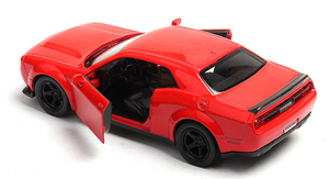 Image 4 - 1:36 Dodge Challenger SRT Demon Sports Car Alloy Diecast Car Model Toy With Pull Back For Children Gifts Toy Collection