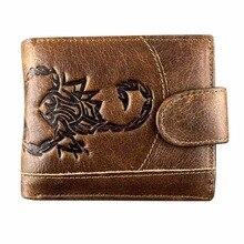 Men Wallets Vintage Cow Genuine Leather Wallet