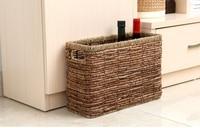 2017 The Japanese style basket Striped woven baskets Rectangular magazine storage basket