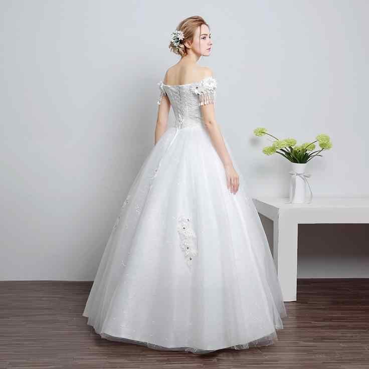 VENSANAC 2018 ואגלי ציצית קצר שרוול כדור שמלת חתונת שמלות תחרה פרחי אפליקציות מתוקה נצנצים שמלות כלה