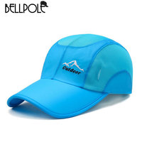 BellPole Quick Dry Caps For Men Women Thin Cotton Baseball Caps Sun Hat Outdoor Sport Mesh