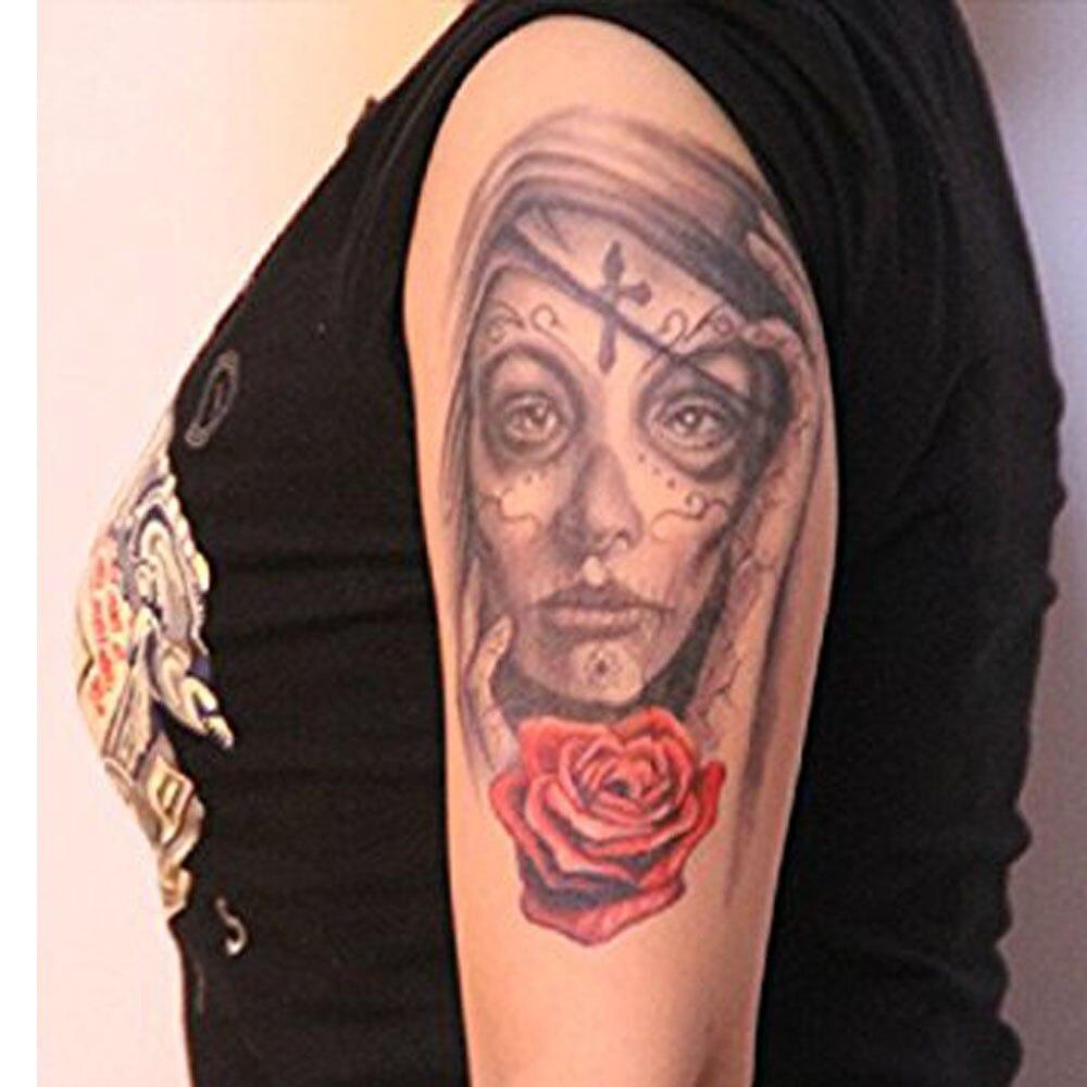Yeeech Temporaire Tatouages Autocollant Pour Femmes Faux Grand