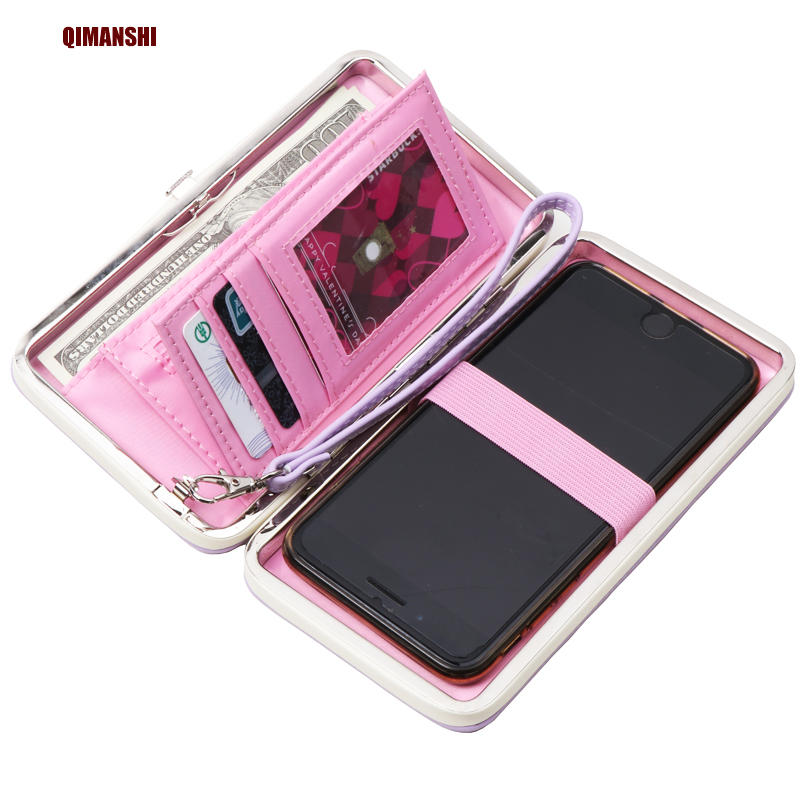 QIMANSHI  2017 New Fashion Women Wallet Ladies  Purse PU Zipper Wallets Long Design Clutch Female Brand Card Holder Gift simline fashion genuine leather real cowhide women lady short slim wallet wallets purse card holder zipper coin pocket ladies