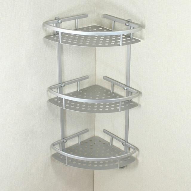 Bathroom Rack Towel Washing Shower Basket Bar Shelf Wall Mounted ...