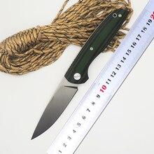BMT F95 110 Roller Tactical Survival Folding Knife D2 Blade Green G10 Handle Ball Bearing Knife Camp Pocket Knives OEM Tools EDC