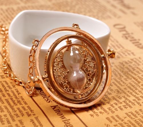 Hermione Granger Necklace Cosplay Props Pendant High Quality Time Turner Necklace Lady Girls
