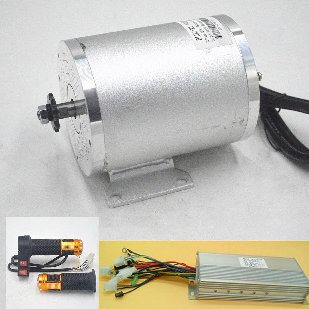 Kit de conversión de Motor de bicicleta eléctrica, 48V, 60V, 2000W, controlador de motor sin escobillas con acelerador de giro para bicicleta eléctrica/Scooter