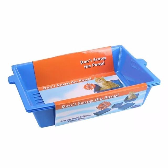 Cat Bedpans Semi Closed Anti-splash Cat Toilet Cat Litter Box Plastic Bedpan Case Pet Supplies 3 Interlocked Trays Easy To Use