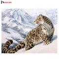 5D Diamante Pintura Diamante Mosaico Ambiental Artesanato Bordado Cheio de Diamantes leopardo da neve Adesivos de Parede Do Hotel Decoração Da Parede