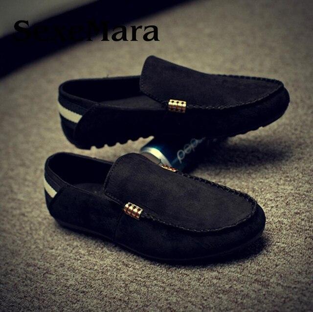 Chaussures Hommes Appartements Gommino Marque De Mode Style Doux Mocassins Haute Qualité En Cuir Véritable Chaussures de Conduite MHyPHVrwS