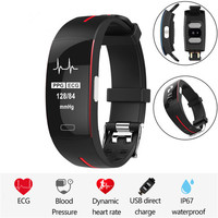 P3 H66 Blood Pressure Wrist Band Heart Rate Monitor PPG ECG Smart Bracelet Activity Fitness Tracker Electronics Wristband