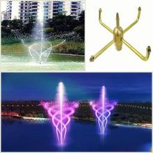 2020 Brass Rotating Garden Fountain Nozzle Automatic Rotation Courtyard Pool Water Landscape Sprinklers Spray Head Brand New
