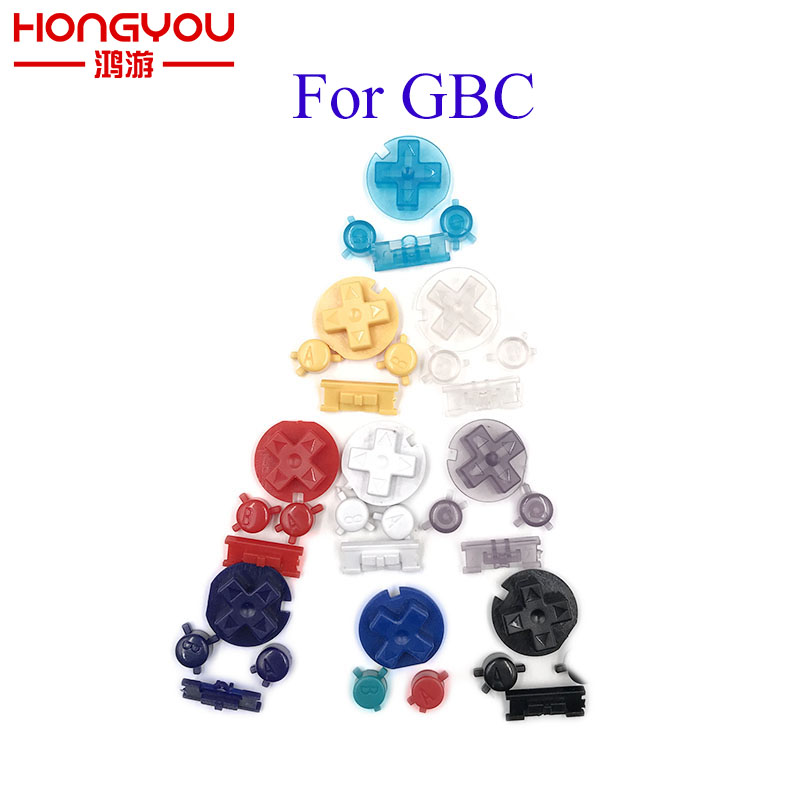 Plastic Power ON OFF Buttons Keypads for Gameboy Color GBC Colorful Buttons for GBC D Pads A B Buttons(China)