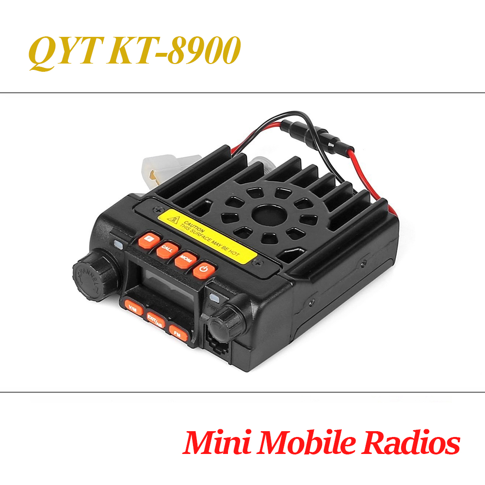 QYT KT-8900 136-174/400-480MHz Mini Mobile Car Radio Transceiver Multiple Function VHF/UHF Walkie Talkie FM Vehicle Transceiver 2pcs mini walkie talkie uhf interphone transceiver for kids use two way portable radio handled intercom free shipping