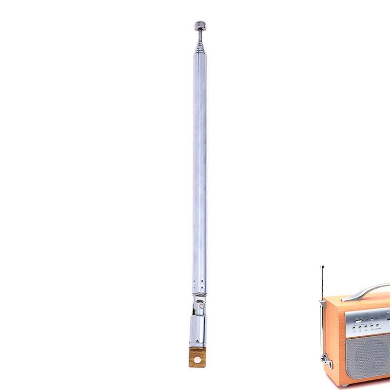 7 أقسام هوائي تليسكوبي الجوي لراديو التلفزيون الفضة توسيع إجمالي طول 765 مللي متر